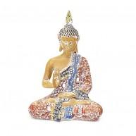 Buda Tailandes para la Protección- Terracota y azul cielo 20 cm