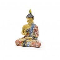 Buda Tailandes para la Protección- Terracota y azul cielo 15 cm