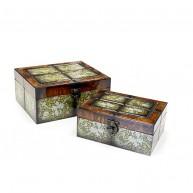 Set de 2 Cajas de Recuerdos Vintage mod. 05