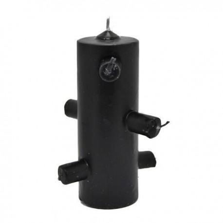 Velón 7 Mechas Negro 5,5 x 16 cm